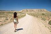 sexy hiking desert woman