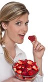 Healthy lifestyle series - Woman with strawberry