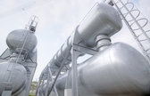gas tanks in the industrial estate, suspension energy for transportation and hou