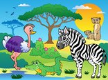 Savannah scenery with animals 6