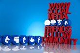 Communication,Internet concept, Social media icons set