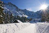 Panoramic Polish Tatras in winter scenery
