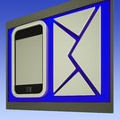 Envelope And Smartphone Shows Mobile Communication