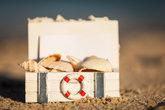 sailing holidays objects decoration shells sand