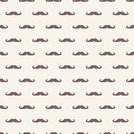 seamless vector pattern or texture with brown mustaches on beige background.