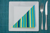 turquoise place setting