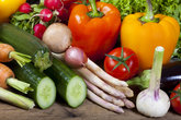 Healthy raw food from fresh vegetables