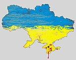 Ukraine vector map ,blood in Crimea