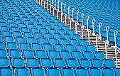 blue seats in a stadium