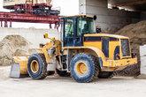 shovel loader wheel loader with large shovel in the construction industry under the open sky