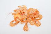 fresh shrimp  isolated on a white background