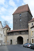 Brick alley with brick gate in Amberg