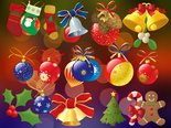 Merry Christmas - seasonal specific ornamented background