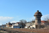 historic water tower at the station of aschersleben