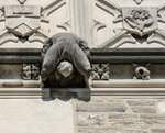 Famous Blair Arch at Princeton University campus - close up view of relief