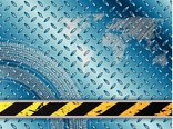 Industrial background in blue with tire treads