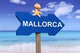 Palma de Mallorca with beach and sea in summer holidays