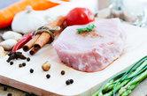 closeup pork meal prepare food