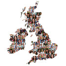 uk and ireland map people young people group integrating multicultural diversity