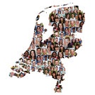 netherlands map people young people group integrating multicultural diversity