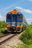 Train on railroad transport