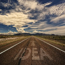 Conceptual Image of Road With the Word Idea