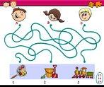 maze paths task for children