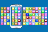 Smartphone or mobile phone with Application Apps app for internet communication