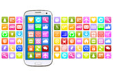 smartphone or cell phone with application apps app for internet
