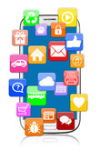 smartphone with application apps app download for internet communication