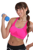 Fitness woman at sports worko