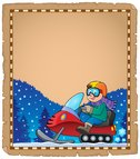 Parchment with snowmobile theme 1