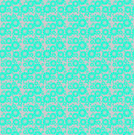 Abstract geometric background, seamless circle pattern mint green on lilac