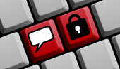 keyboard shows encrypted communication online