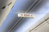 Airplane cabin interior exit sign