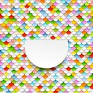 Colorful abstract art background. Paper circles
