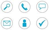 6 communication icons flat design