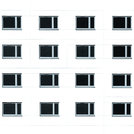 Residential building windows background