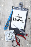 creative christmas card for at electrican business
