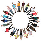 people multicultural young people people group in circle