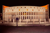 The replica of Rome's Colosseum in the Seven Wonders park, Kota