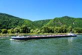 barge rhine transport river forest