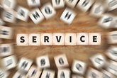 Service Service Support Cube Business Concept