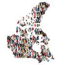 Canada Map People People People Group People Group Multicultural