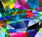 polygonal kaleidoscope paintings textures