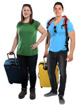 vacation young people people with suitcases travel travel travel young laugh cut-outs
