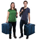 young people traveling with suitcases traveling travel vacation young laughing cut out