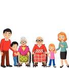 PrintCartoon happy family