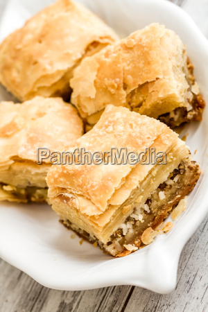 tatar borek gobete with meat traditional food from turkey stock