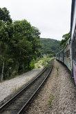 line train track railway  stones nature  transportation